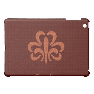 Leather Fleur de lis iPad Case