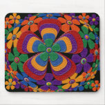 leather flowers mouse pads