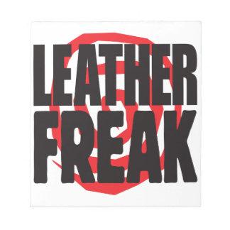 Leather Freak Memo Notepad