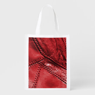 """""""leather"""", front reusable bag grocery bags"""