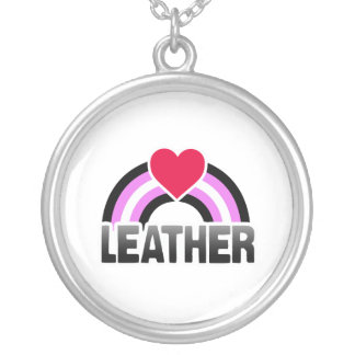 LEATHER GIRL RAINBOW PERSONALIZED NECKLACE