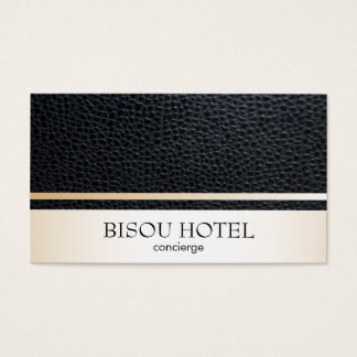 Leather & Gold Trim Business Card