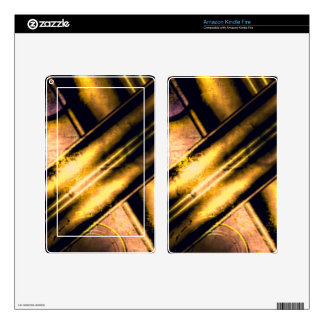 Leather (Golden) Kindle Fire Skin