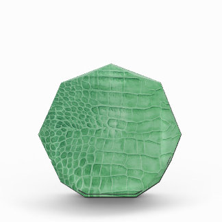 Leather green crocodile acrylic award