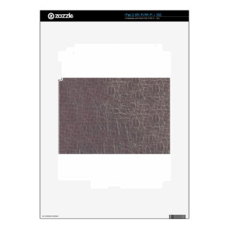leather grey silver texture template diy add text iPad 2 skin