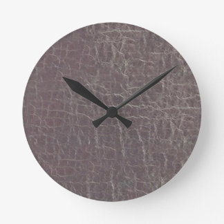 leather grey silver texture template diy add text round clock