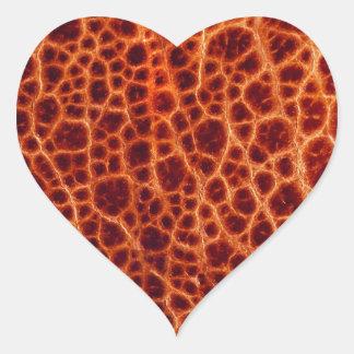 Leather Heart Sticker