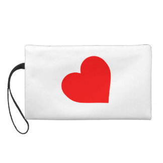 LEATHER HEART SYMBOL WRISTLET CLUTCHES
