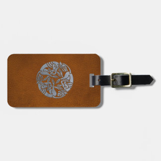 Leather Iron Celtic Dog Bag Tag