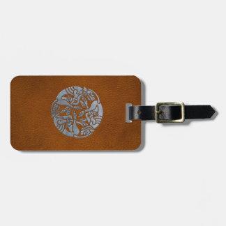 Leather Iron Celtic Dog Luggage Tags