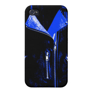 Leather Jacket Blue Case For iPhone 4
