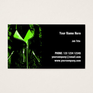 Leather Jacket Green business card horizontal