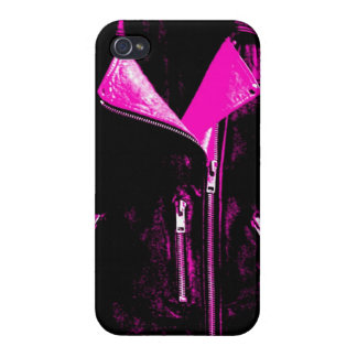 Leather Jacket Pink Case For iPhone 4