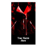 Leather Jacket Red business card black portrait