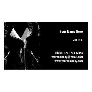 Leather Jacket White business card horizontal