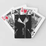 Leather Jacket White playing cards