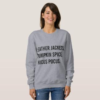 Leather Jackets, Pumpkin Spice, Hocus Pocus Sweatshirt