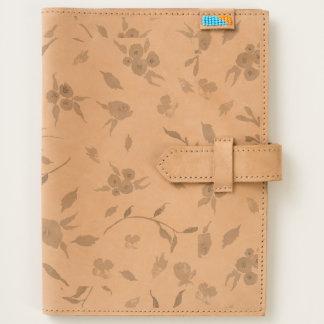 Leather Journal Watercolor Flower Fields