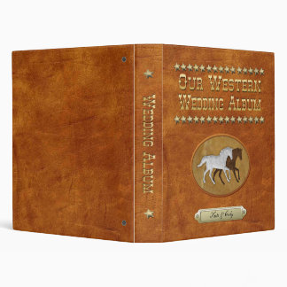 Leather & Lace Horses 3 Ring Binder