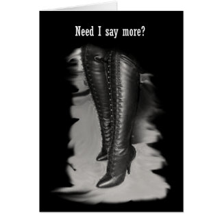 Leather Lace Up Boots Cards