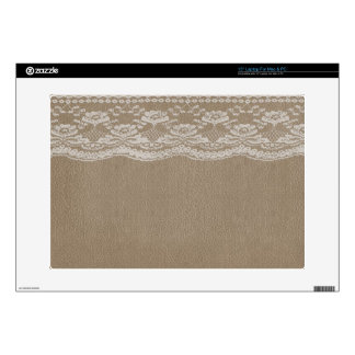 """Leather & Lace Wedding 15"""" Laptop Decals"""