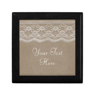 Leather & Lace Wedding Gift Box