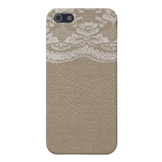 Leather & Lace Wedding iPhone 5/5S Cover