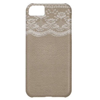 Leather & Lace Wedding iPhone 5C Cover