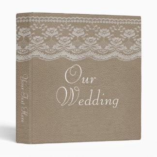Leather & Lace Wedding Photo Album 3 Ring Binder