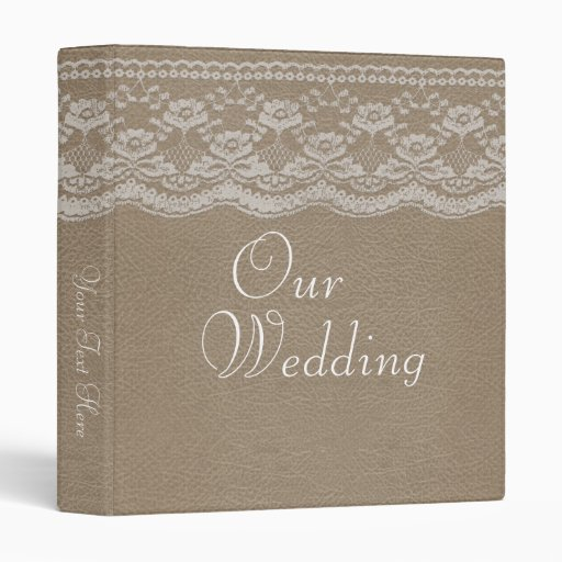 Leather Amp Lace Wedding Photo Album Vinyl Binder