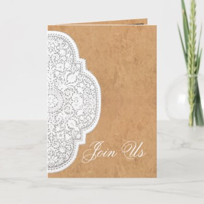 Leather Lace Western Wedding Invitation CARDS by RanchLady