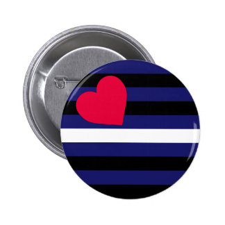 Leather Latex and BDSM Pride Flag Button