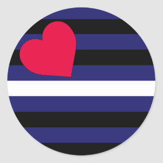 Leather Latex and BDSM Pride Flag Classic Round Sticker