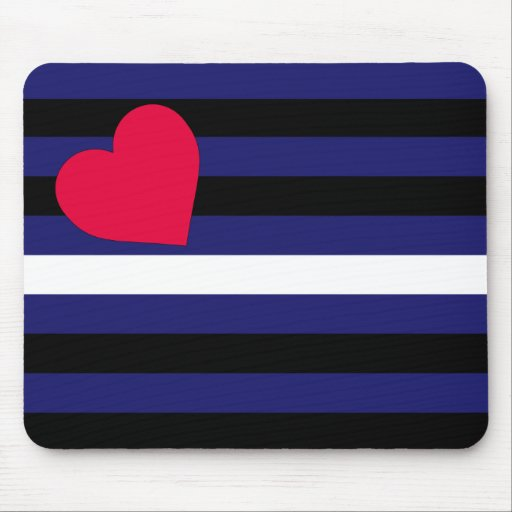 Leather Latex and BDSM Pride Flag Mousepads