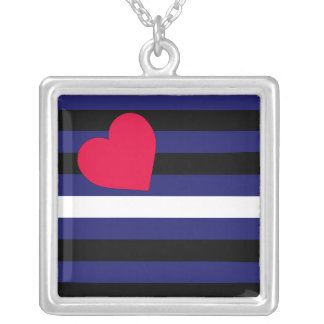 Leather Latex and BDSM Pride Flag Personalized Necklace