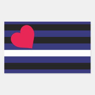 Leather Latex and BDSM Pride Flag Rectangular Sticker