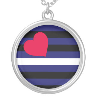 Leather Latex and BDSM Pride Flag Silver Plated Necklace
