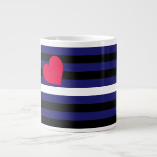 Leather Latex and BDSM Pride Flag Extra Large Mugs