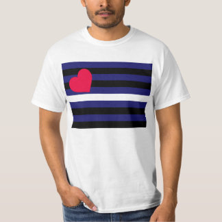 Leather Latex and BDSM Pride Flag T-Shirt