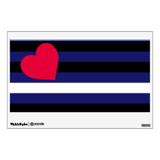 Leather Latex and BDSM Pride Flag Wall Decal