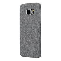 Leather like grey samsung galaxy s6 case