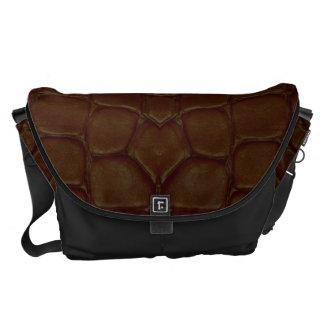 Leather-like Print Messenger Bag
