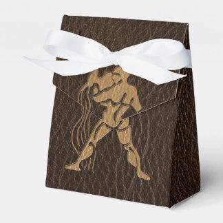 Leather-Look Aquarius Favor Box
