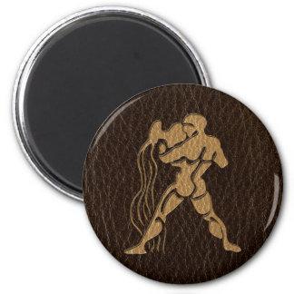 Leather-Look Aquarius Magnet
