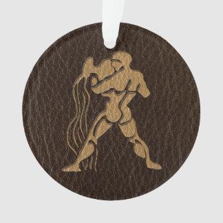 Leather-Look Aquarius Ornament
