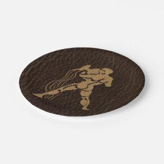 Leather-Look Aquarius Paper Plate
