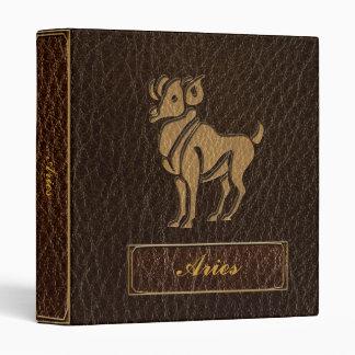 Leather-Look Aries 3 Ring Binder