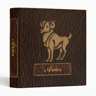 Leather-Look Aries Binder
