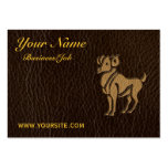 Leather-Look Aries Business Card Template