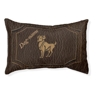 Leather-Look Aries Dog Bed